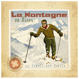 La Montagne Prints by Bruno Pozzo