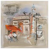 Paris Champs Elysees Poster par  Lizie