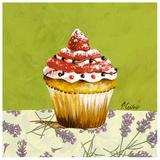 Cupcake Fraise Print by Pascal Cessou
