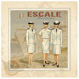 Escale Poster by Bruno Pozzo