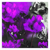 Purple Flowers I Prints by Nathalie Poulin