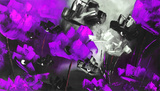 Purple Flowers Print by Nathalie Poulin