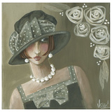 Femme Chapeau Gris Prints by Véronique Didier-Laurent