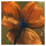 Orange Flower III Prints by Nathalie Poulin