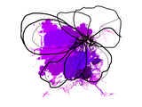 Purple Abstract Brush Splash Flower Premium Giclee Print by Irena Orlov