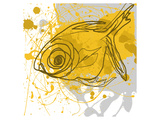 Yellow Fish Premium Giclee Print by Irena Orlov