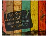 Be the Change Lámina giclée premium por Irena Orlov