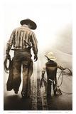 Übung im Lassowerfen Kunstdrucke von Randy Jay Braun