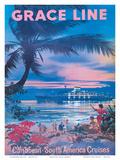Grace Line, Caribbean c.1958 Posters