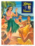 Libby's Hula Girl c.1957 Posters af Lafferty