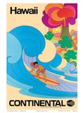 Continental Hawaii Surfer c.1960's - Reprodüksiyon