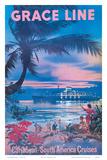 Grace Line, Caribbean c.1958 Prints
