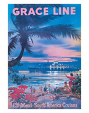 Grace Line, Caribbean c.1958 Giclee Print by C.G. Evers