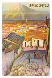 Cusco, Peru c.1950's Kunst van F.C. Hannon
