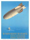 Ottomar Anton - Deutsche Zeppelin Reederei c.1935 - Poster