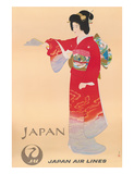 Japan Air Lines, Geisha c.1950's Giclee Print by  Mitsumura