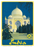 Crüwell-Tabak, Taj Mahal c.1930's Affiches