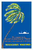 Messageries Maritimes c.1960's Poster by C.M. Perrot