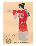 Japan Air Lines, Geisha c.1950's Lámina giclée por  Mitsumura