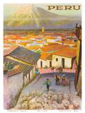 Cusco, Peru c.1950's Affiches par F.C. Hannon