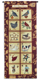 The Twelve Days of Christmas Wall Tapestry by Stephanie Marrott