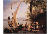 Wolfgang-Adam Toepffer (The departure of the wedding party) Art Poster Print Posters