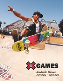 X Games Skateboarding - 2013 Notebook Academic Planner Calendars