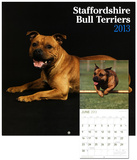 Staffordshire Bull Terriers - 2013 Wall Calendar Calendars