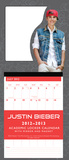 Justin Bieber - 2013 Academic Locker Calendar Calendars