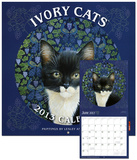 Ivory Cats-Paintings by Lesley Anne Ivory - 2013 Wall Calendar Calendars