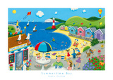 Summertime Bay Art by Sophie Harding