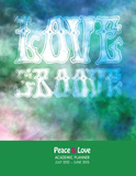 Peace &amp; Love - 2013 Notebook Academic Planner Calendars