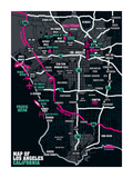 Los Angeles Map Affiches par Tom Frazier