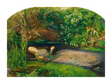 Ophelia, 1851-52 Posters by Sir John Everett Millais