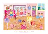 Miss Tutu's Ballet Class Art by Sophie Harding