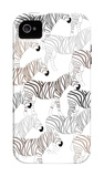 Zebra Pattern iPhone 4/4S Case by  Avalisa