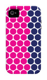 Blue Pink Dots iPhone 4/4S Case by  Avalisa