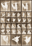 Fancy Dancing Poster by Eadweard Muybridge