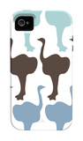 Blue Ostrich Family iPhone 4/4S Case by Avalisa