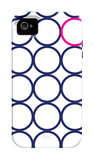 Navy Pink Circles iPhone 4/4S Case by  Avalisa