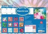 Peace &amp; Love - 2013 Academic Desk Pad Calendars