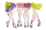Party Legs Prints by Jane Hartley