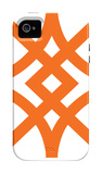 Orange Diamond iPhone 4/4S Case by  Avalisa