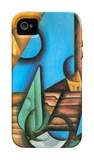 Bottle and Glass on a Table iPhone 4/4S Case by Juan Gris