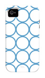 Blue Circles iPhone 4/4S Case by  Avalisa