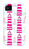 Pink Light House Pattern iPhone 4/4S Case por Avalisa