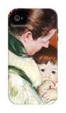 Woman and Child iPhone 4/4S Case by Mary Cassatt