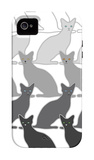 Black Cats iPhone 4/4S Case by  Avalisa