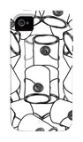 Black and White Paint Cans iPhone 4/4S Case by  Avalisa