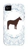 Blue Stallion iPhone 4/4S Case por Avalisa
